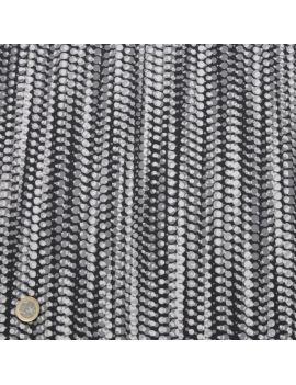 satin coton collier de perles noir