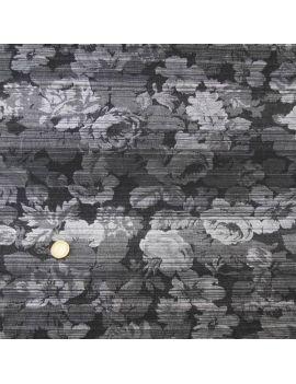 Brocard gris-noir double-face avec fil lurex