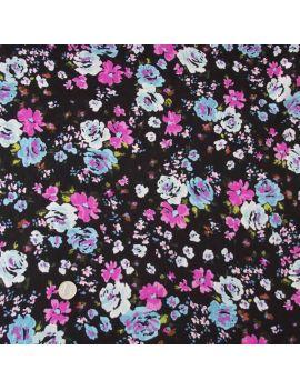 Paschmina fleurs violettes