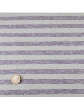 Jersey rayures gris-pistache