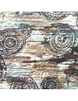 Tissu froissé africa terre