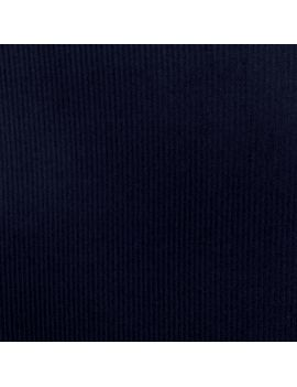 Velours petite côte bleu marine