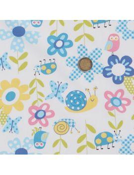 coton chouette/escargot/papillon