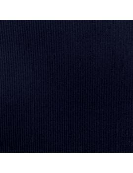 Velours ras bleu marine