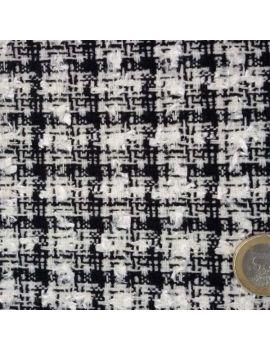 Tissu style  blanc/noir