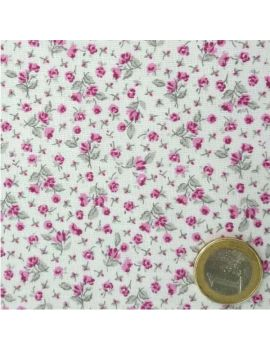 coton fleur liberty fushia/prune