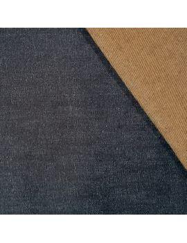Jeans brut bleu marron