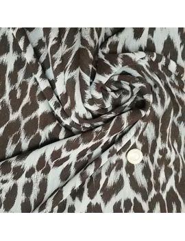 Voile polyester léopard