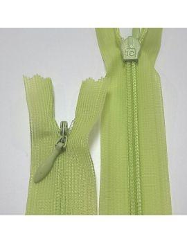 ZIP invisible 22cm vert anis
