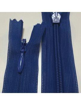 ZIP invisible 22cm bleu electrique