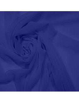 Voile polyester bleu électrique