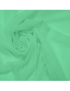 Voile polyester vert d'eau