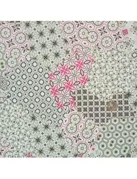 Tissu froissé patchwork rose