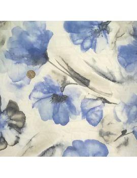 Tissu froissé  fleur aquarelle