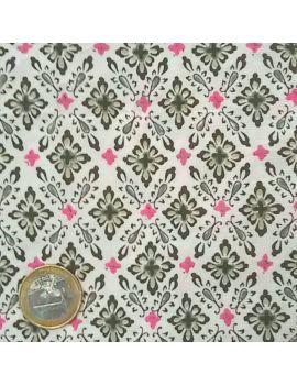 Tissu froissé vitrail rose