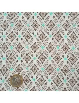 Tissu froissé vitrail turquoise