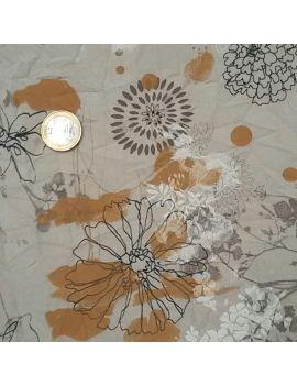 Tissu froissé croquis fleur