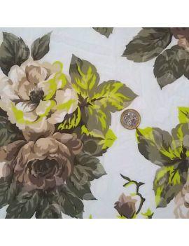 Tissu froissé fleur romantique