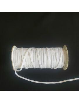 Élastique gomme blanc 4mm