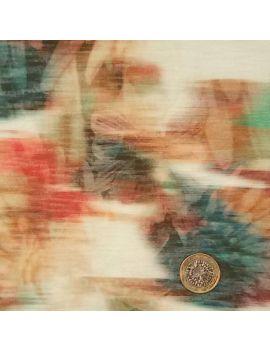 Jersey flammé numérique illusion fleur