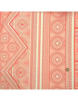 Jersey crêpe foulard corail