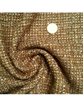 Tweed bouclé marron/camel