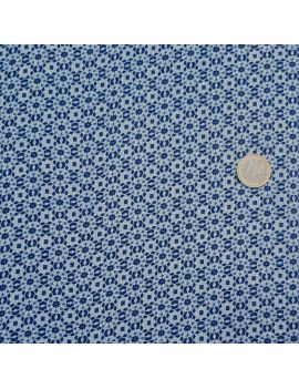 Viscose géométrique bleu