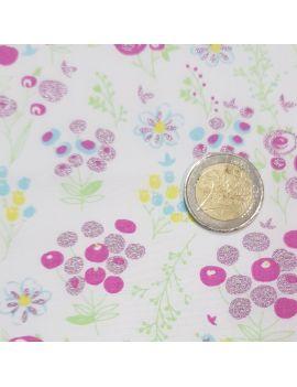 Liberty fleur fushia nacré