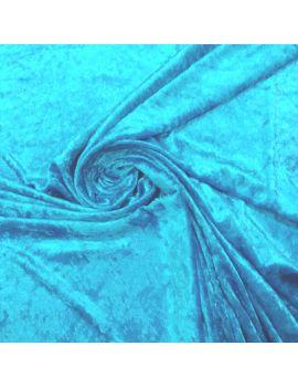 Panne de velours bleu turquoise