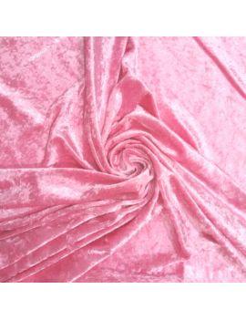 Panne de velours rose bonbon