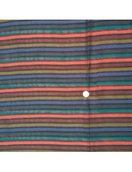 Etamine polyester raye multico coupon 3 mètres