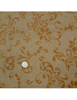 Toile voile de polyester floqué arabesque coupon 3 mètres