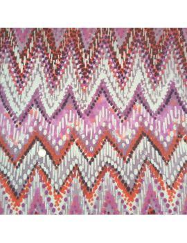 Voile de coton diagonale rose