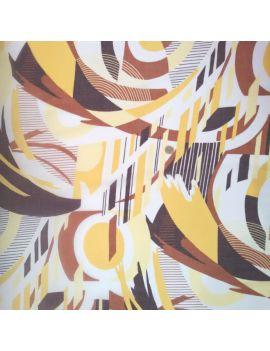 Voile de coton géo abstrait oversize