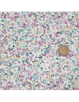 voile de coton fleurette bleu