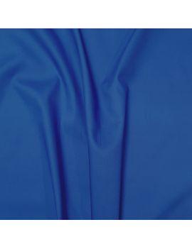 Popeline coton bleu roi