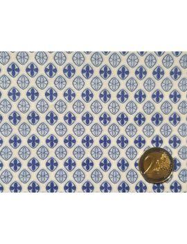 voile de coton geo bleu blanc