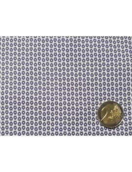 voile de coton geo bleu minimal