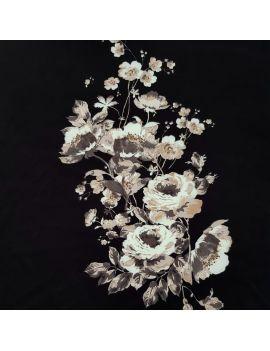 Scuba fleur noir écru panneau 1m numérique