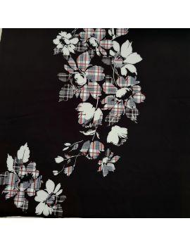 Scuba fleurs TARTAN panneau 90cm numérique