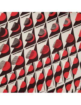 Scuba fleurs geo rouge panneau 90cm numérique