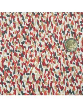 viscose pluie rouge corail gris