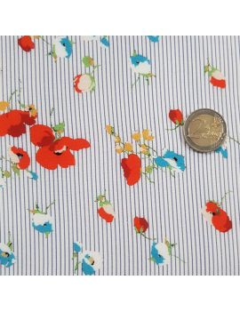 copy of Jersey polyester fleur corail