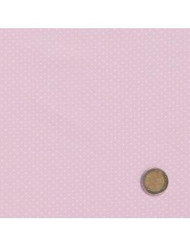 pois tête d'épingle rose