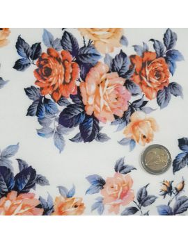 viscose bouquet bleu