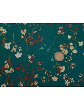 vicose fleurs jap vert