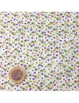 Voile de coton fleurette violet