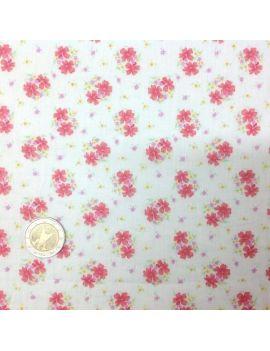 voile de coton fleur rouge romantique