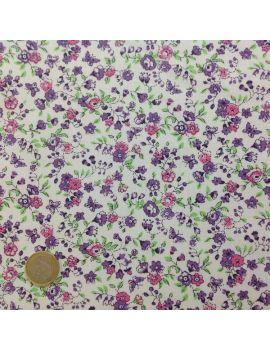 liberty fleurs et papillons moyens violet