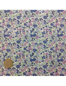 liberty fleur moyen bleu et rose